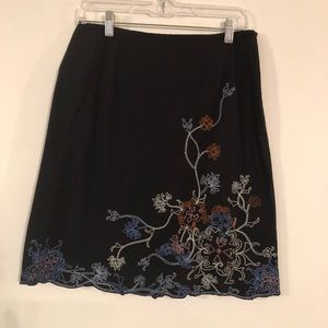 Autograph New York Embroided Women's Floral Skirt